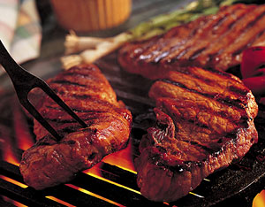 perfect barbecued steak