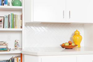Fireclay Tile White and Bright Kitchen