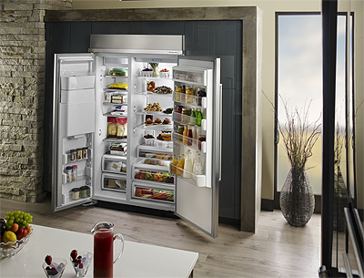 KitchenAid 48-Inch Built-in Side by Side Refrigerator with PrintShield Finish