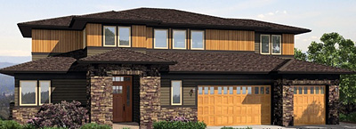 click to view plan HHF-2296, a contemporary design