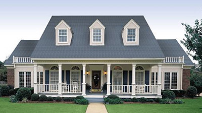 click to view plan HHF-3604, colonial home plan