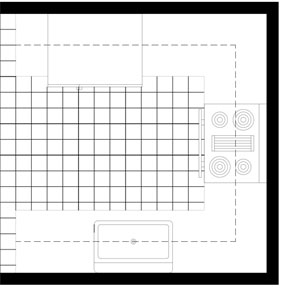 The basics of kitchen floor planning the u shaped floor plan publicscrutiny Choice Image
