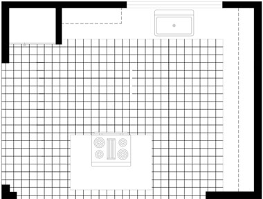 ezblueprint besides Kitchen Floor Plan Layouts besides One Wall kitchen also Rest In Peace Renato Bialetti together with Basics Of Kitchen Floor Planning. on l shaped kitchen