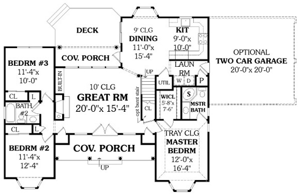 Simple single story ranch house plan