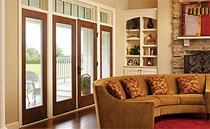 Therma-Tru Fiber-Classic Oak French/Hinged Patio Door