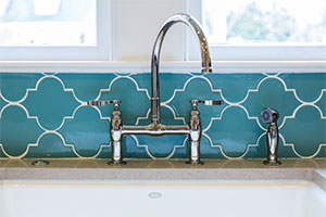 Fireclay Tile Contemporary Ogee Backsplash