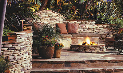 Eldorado Stone Kittredge Gas Burning Fire Pit