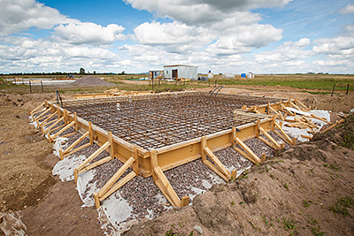 A foundation for a new home