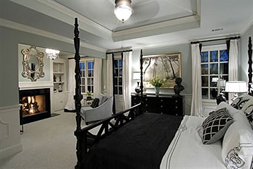 elegantly designed master suite