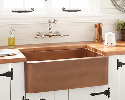 Signature Hardware Kembla Copper Farmhouse Sink