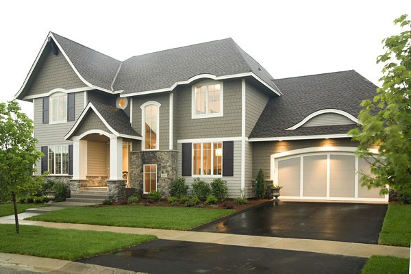 Create a spacious home with an open floor plan for Traditional 2 story house