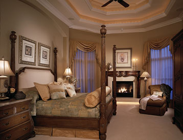 treatment that further enhances the charm of this earthy master suite