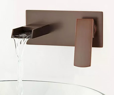 Signature Hardware Broeg Wall-Mount Waterfall Faucet