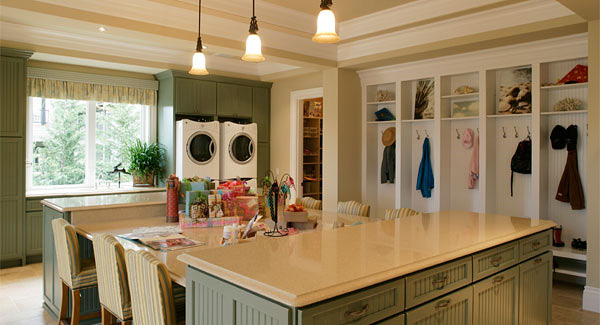 large laundry and craft room
