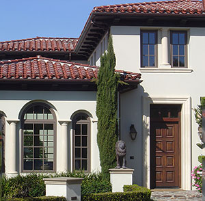 Elements of spanish revival design for Mission stucco