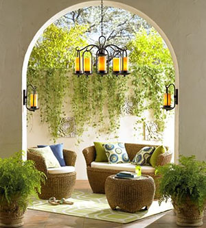 LAMPS PLUS Outdoor Living Room featuring Franklin Iron Works