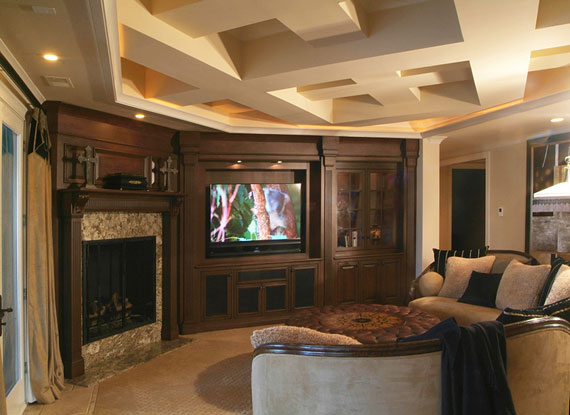 Mediterranean masterpiece with media room