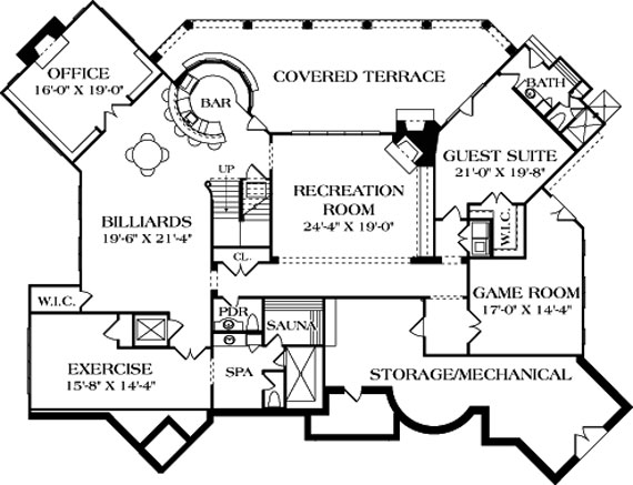 basement floor plan from Direct from the Designers™