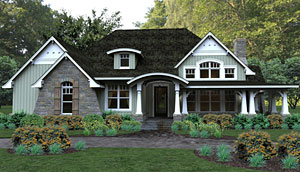 Craftsman cottage house plan
