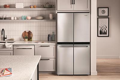 Whirlpool 36-inch Wide Counter Depth 4 Door Refrigerator