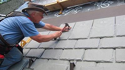 Tim Carter Installing DaVinci Roof