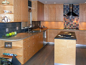 Oakwood Veneer Maple Veneer Kitchen