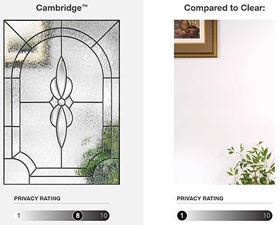 Therma-Tru Doors Cambridge Decorative Glass