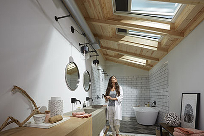 VELUX Solar Powered Fresh Air Skylight Interior