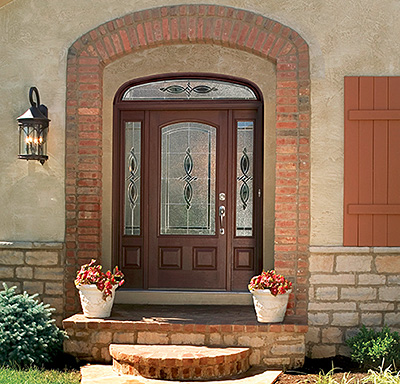 Therma-Tru Doors Classic-Craft Mahogany Collection & Using Sidelites and Transoms to Define Your Entry