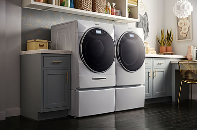 Whirlpool Smart Front Load Washer and Dryer