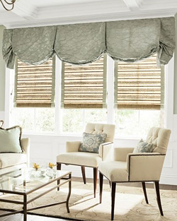 Natural Woven Waterfall Shades