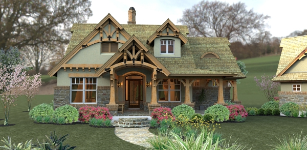 Porch And A Covered Front Porch This Enchanting Fairytale Style House
