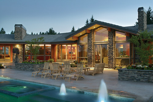House Plan 6774 Pool and Patio