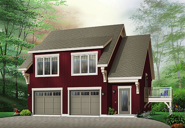 8 detached garages every man dreams of dfd house plans for House plans with detached garage apartments