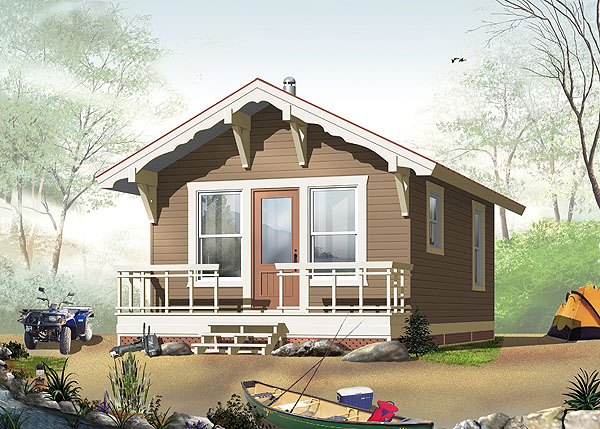 This Tiny House Plan Is A 384 Square Foot Beauty With An Open Floor One Bedroom And Bathroom Beautifully Designed Porch Makes Home Ideal