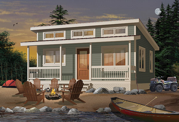 Wanna get away 10 tiny house plans for off grid living for Beach cabin designs