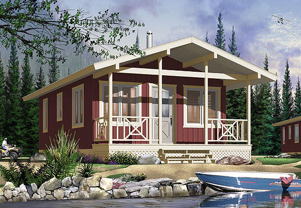 this tiny home is a great beach house for a coastal setting at 540 square feet it gives the occupant plenty of living space with efficient floor planning - Small Homes Plans
