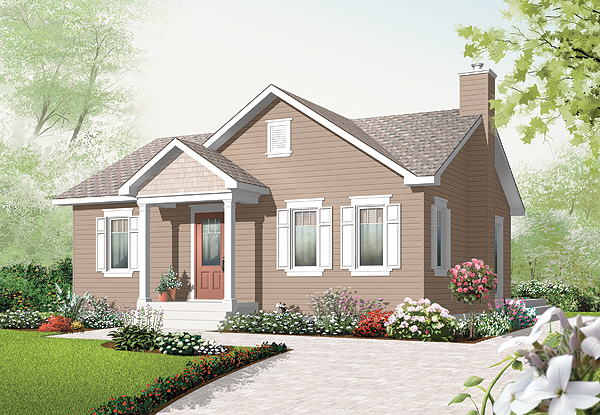 This Small Home Is Economical Efficient And Easy To Build One Of The Gest Surprises In House Plan Generous Walk Closet
