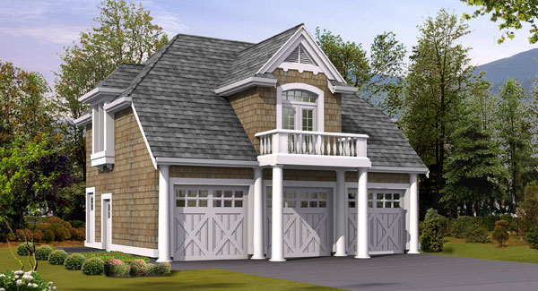 8 detached garages every man dreams of dfd house plans - Detached guest house plans plan ...