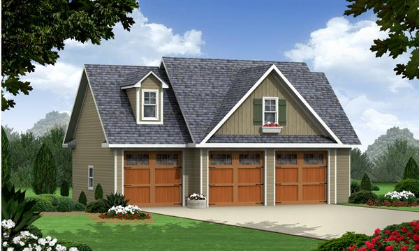 8 detached garages every man dreams of dfd house plans for Plans for 3 car garage with apartment above