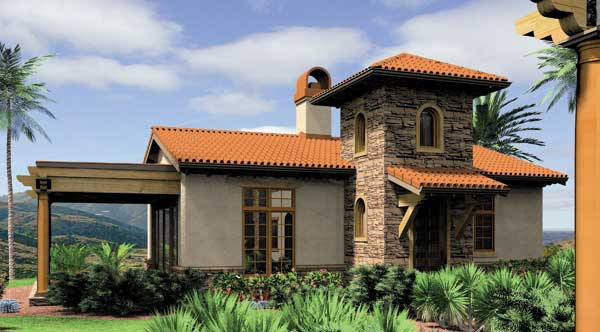 if you prefer a spanish style exterior take a look at plan 5923 there is one bedroom making if perfect for one person or a couple that want to downsize