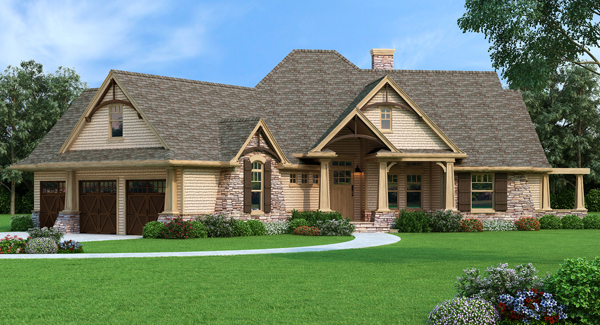Inspiring new house plans craftsman house plans for House plans usa