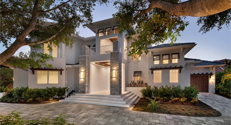 Gorgeous house, built in Florida, was constructed with ICFs.