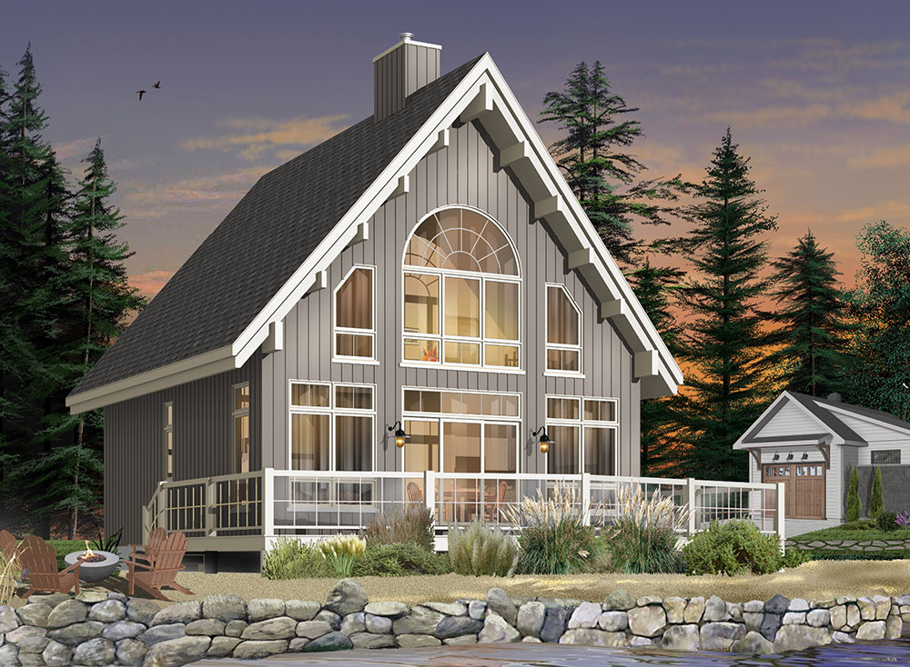 Affordable Dream House Plans - Perfect for Building on a Narrow Lot!