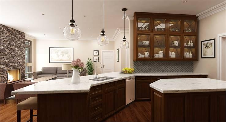 House Plan 9898: Country Craftsman Kitchen