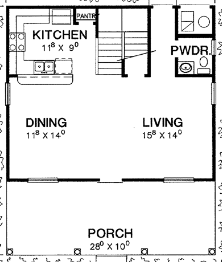 Floor Plan With Only Four Corners
