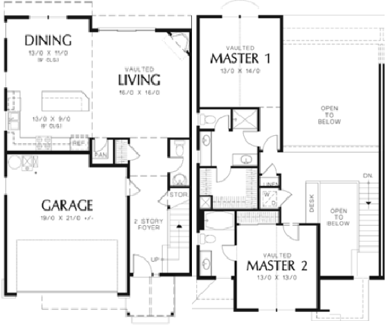 House Plan 5899: Duplex House Plan