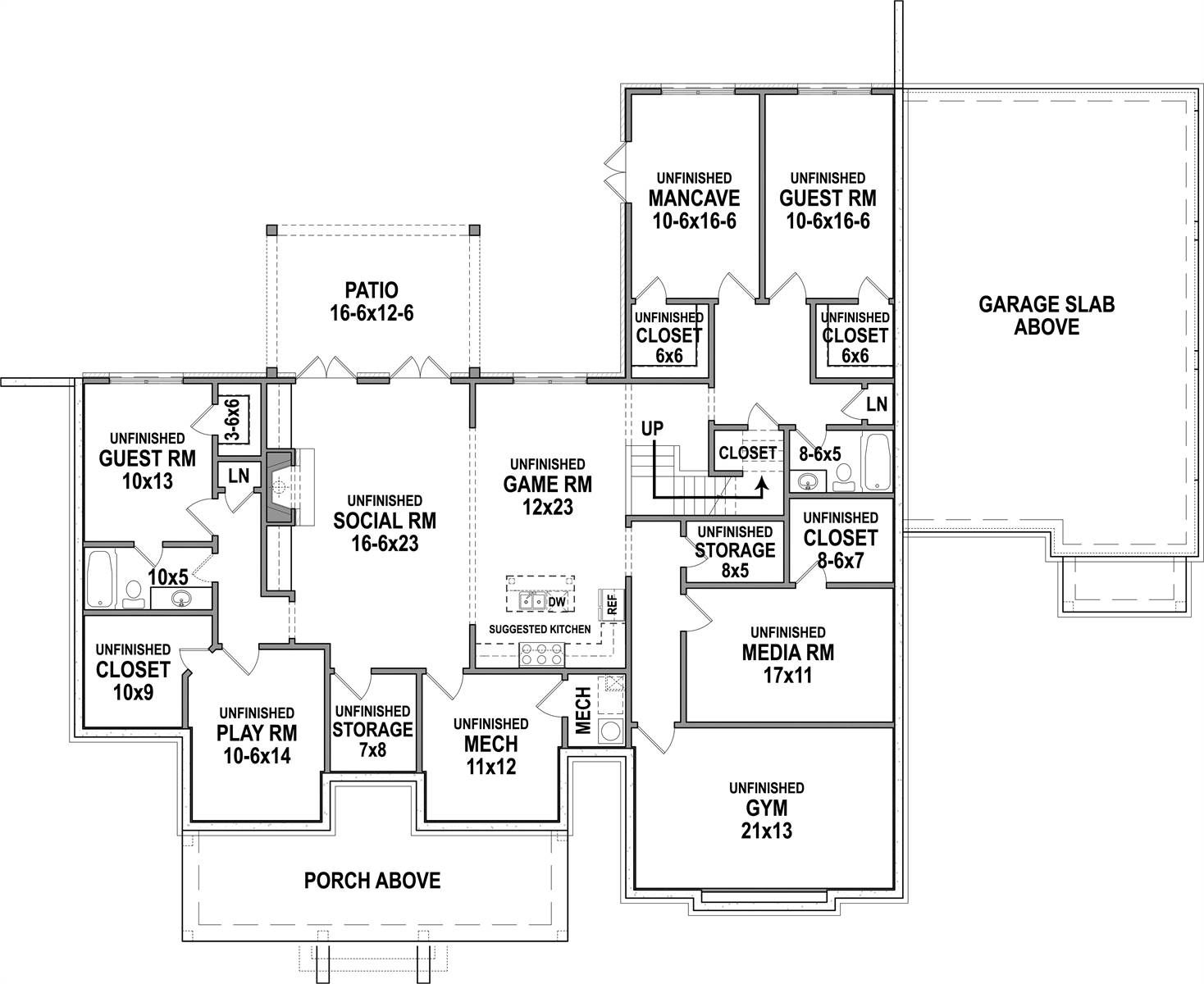 don t forget the future basement dfd house plans blog