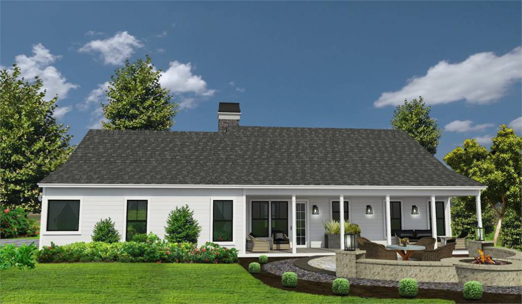 Southern Style Ranch from Customer Preferred House Plans - Rear Elevation
