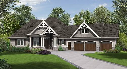 3 stall garage house plans
